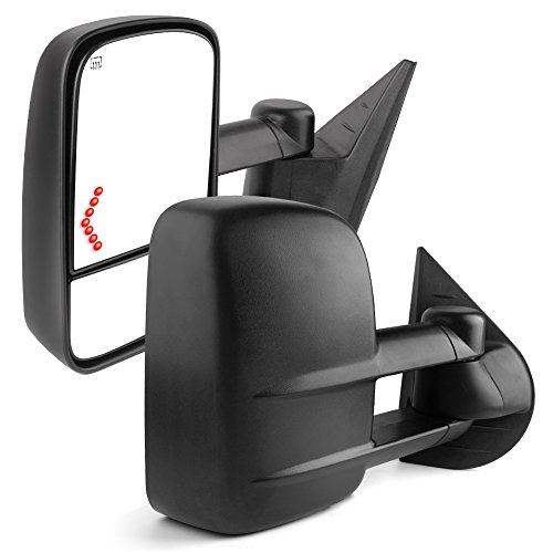 YITAMOTOR MR-010-xS1ya Towing Mirrors Compatible for 07-13 Chevrolet GMC Cadillac Silverado Sierra