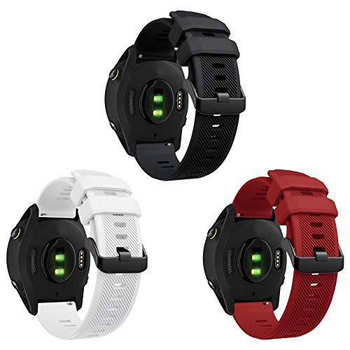 YASPARK Correa para Forerunner 745/Huawei Watch GT 2 46mm, 22 mm Correa de Acero Inoxidable Correa de Malla Tejida para Galaxy Watch 46mm/Gear S3 Frontier/Classic/Galaxy Watch 3 45mm