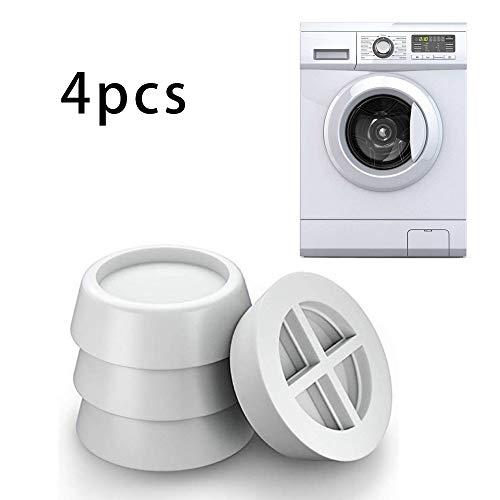 Waschmaschine Antivibrationsmatte Fußpolster Rutschfeste Bodenwannen für Waschmaschinen Unterlage Anti-Vibrations-Pads Schwingungsdämpfer für Waschmaschinen für Waschmaschine Trockner (Weiß)