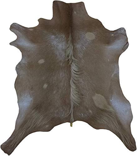 Zerimar Alfombra Piel de Cabra Natural Premium | Medidas: 75x70 cms | Alfombra Salón | Alfombra Salón Grandes | Alfombras de Pelo
