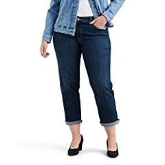 """Mid Rise: Sits at waist Relaxed fit through hip and thigh Inseam: 26"""" (Rolled); 28"""" (Unrolled) Front Rise: 10.75""""; Leg Opening: 17"""""""