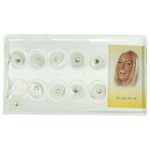 NAttnJf 10 Unids/Caja 2mm Brillante Imitación Cristal Oral Dientes Dentales Diente Adorno de Joyería