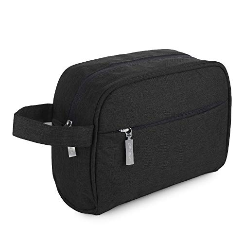 SHIBUI Travel Toiletries Bag for Women Men, Airlab Wash Bag for Accessories, Shampoo, Cosmetic, Healthcare Bag with Handle(Oxford-Black)