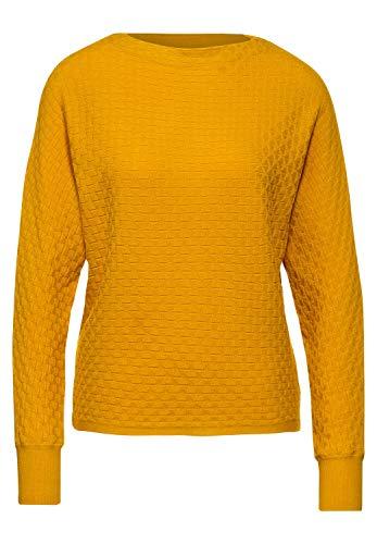 Street One Damen 301354 Pullover, Amber Yellow, 42