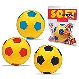 Les Colis Noirs LCN - Lot de 12 Ballon en Mousse 20cm - Modèle Aléatoire - Football Foot Sport Enfant - 523