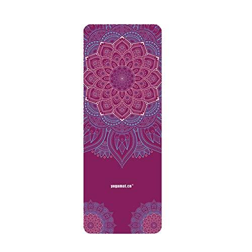 XINGDONG Esterilla de yoga antideslizante ampliada y larga y fina de goma compuesta de ante para fitness, fácil de almacenar (color: J)