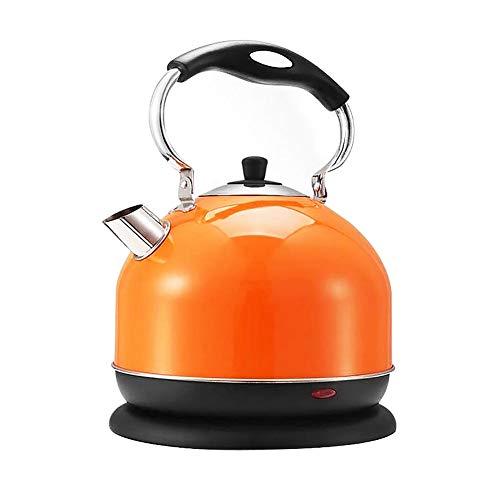 XYY Wasserkocher Edelstahl, 3L, 2000 W, kabellos, Kalk-Wasserfilter, Trockenlaufschutz, BPA frei, Wasserstandsanzeige, Orange