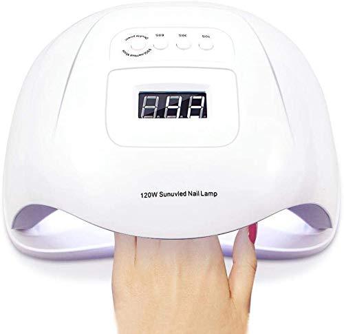 HWXDH Sèche-Ongles UV LED Nail Light pour Nail Machine Full Gel LCD Display 10/30/60 / 99s Timing