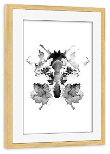 artboxONE Poster mit Rahmen Kiefer 30x20 cm Rorschach von Robert Farkas - gerahmtes Poster