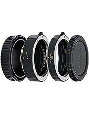 JJC 11mm/16mm Sets Metal Tubo de Extensión TTL Enfoque Automático AF para Canon RF Mount EOS R, Ra, RP, R5, R6 Cámara Digital y Lentes RF Mount