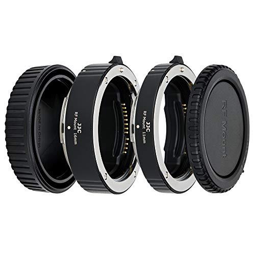 JJC Automatik Makro Zwischenringe (AF) für Makrofotographie 11mm/16mm Set für Canon RF-Bajonett Kameras EOS R Ra RP R5 R6 usw. und RF Bajonett Objektiv