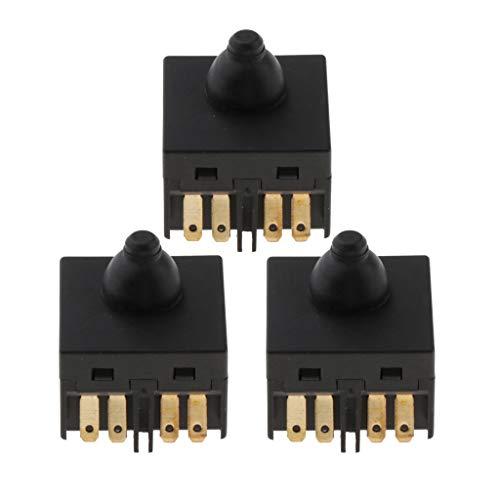 Fenteer Interruptor De Botón Pulsador De Repuesto 3pcs Para Accesorio De Amoladora Angular De 100 Mm 4'