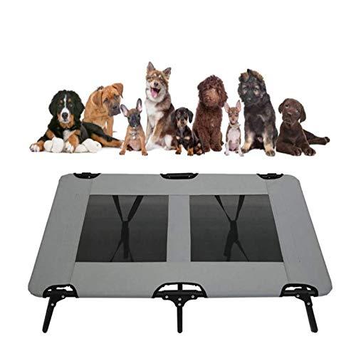 Perro cama Cara de cama de mascotas para perros elevados para exteriores, cama para perros Lavable con malla fría plegable portátil transpirable cama para mascotas Camping portátil Camping de perro le