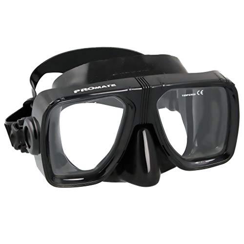Promate Scope Scuba Dive Mask, AllBlack