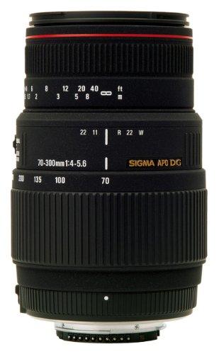 Sigma 70-300mm F4-5.6 APO DG Macro - Objetivo (SLR, 14/10, Telephoto, 76.6 mm, 58 mm, 119.5 mm) Negro