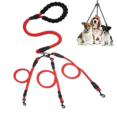 Hond Lood 3 Hond Leads Touw Hond Lood Training Lead Voor Honden Hond Leidt Slip Touw Dog Training Lead Hond Lead Splitter Gewatteerde Hondenriem red