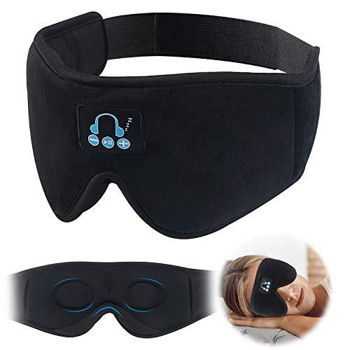 ORROKER Auriculares para dormir Máscara de ojos Bluetooth, Máscara de sueño 3D Bluetooth 5.0 Máscara de ojos con música inalámbrica para personas que duermen de lado con altavoces estéreo HD Perfecto