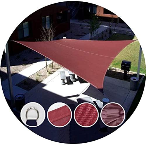 JLTX - Rectángulo Cantonnières Sombra Poliéster Impermeable Manga Outlet Tax Tiendas Jardín Terraza Piscina, Sol Crema Sombra Tela 4 Colores (Color: Verde Oscuro, Tamaño: 6x9m)