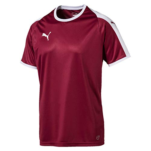 Puma Liga Jersey Camiseta, Hombre, Rojo (Cordovan/White), XL