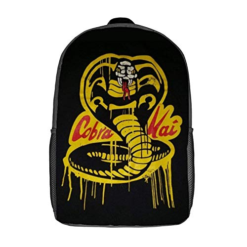 Cobra-Kai Leisure backpack-17 inch Laptop Classic Backpack, Camping Backpack, Travel Outdoor Backpack, College School Bag
