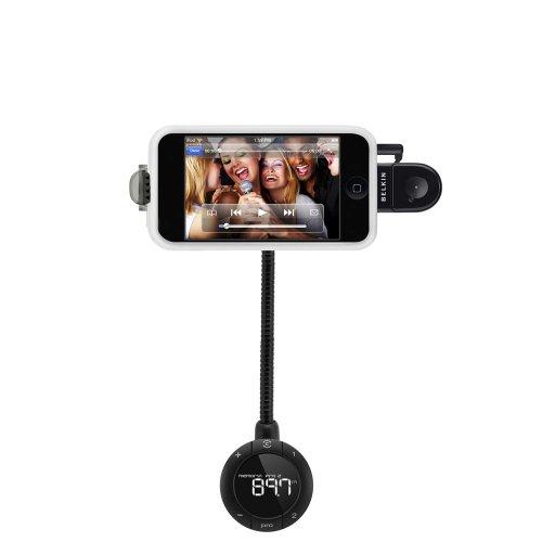 Belkin TuneBase FM-Transmitter (Telefon-Freisprechanlage, AUX-Out) Version 2 für Apple iPhone 4s 4 3GS 3G /iPod mit dem Breitstecker