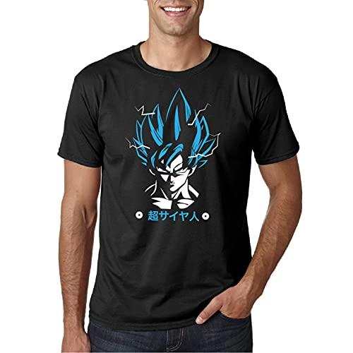 DB Supergoku - Camiseta Manga Corta (Negro, XXL)