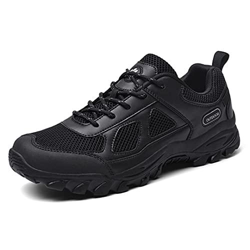 Botas de Senderismo para Hombre, Zapatos de Trekking Impermeable Entrenadores para Caminar al Aire Libre Lightweight Wide Fit Bototes de Trabajo Casual,Negro,39 EU 🔥