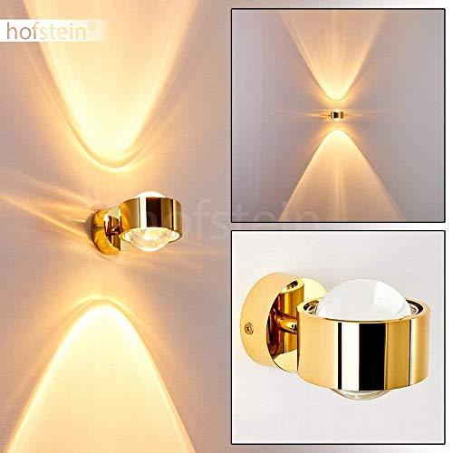 Effekt-Wandlampe Sapri - Kugelförmige Wandleuchte - Wandspot aus Metall und Linsen aus Glas - Wand Lampe mit tollen Lichteffekten in Goldfarben – G9-Fassung für max. 28 Watt