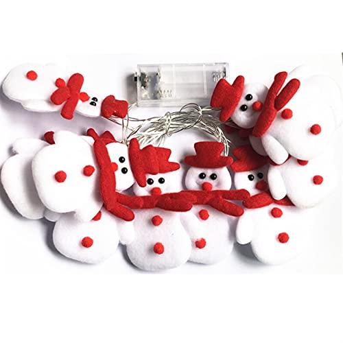 Mueco de nieve Elk String Light Decoracin navidea para el hogar Adornos para rboles de Navidad Pap Noel (Color : Style 0, Size : One size)