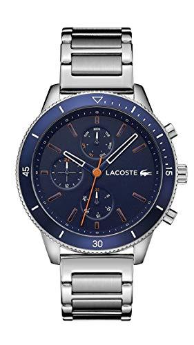 Lacoste Hommes Multi-Cadrans Quartz Montre avec Bracelet en Acier Inoxydable 2010995