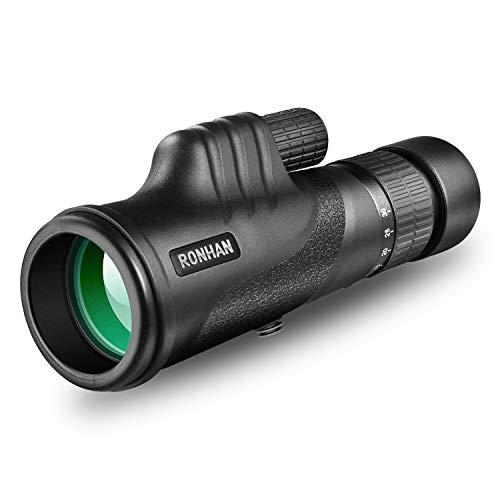 Monocular Telescope, 10-30X42 High Power HD Zoom Monoculars-BAK4 Prism FMC Optical Lens with Smartphone Adapter & Tripod, Compact Waterproof Monocular for Adults Kids Bird Watching Traveling Wildlife