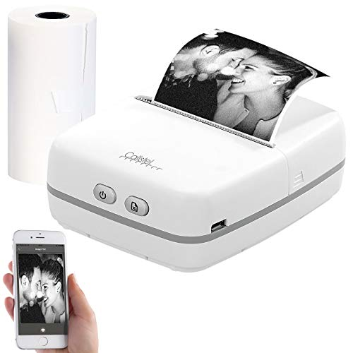 Callstel Mini Thermodrucker: Mobiler Akku-Foto-Thermodrucker, Android & iOS, Bluetooth, App, 57 mm (Fotodrucker)