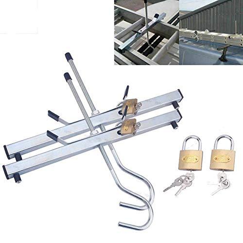 Paar Ladder Dakklemmen voor auto, Universele Veilige Afsluitbare Klemmen, Auto Van Dakdrager Ladder Klemmen met Hangsloten, Veilig Vervoer Uw Ladders