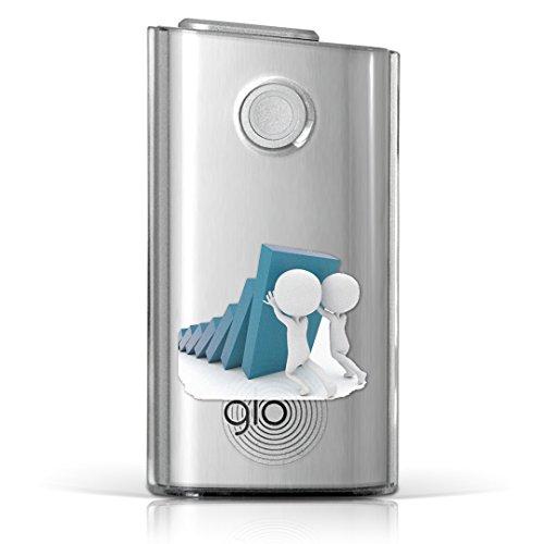 glo グロー グロウ 専用 クリアケース クリアカバー タバコ ケース カバー 透明 ハードケース カバー 収納 デザイン ポリカーボネート ドミノ 壁 キャラクター 011414