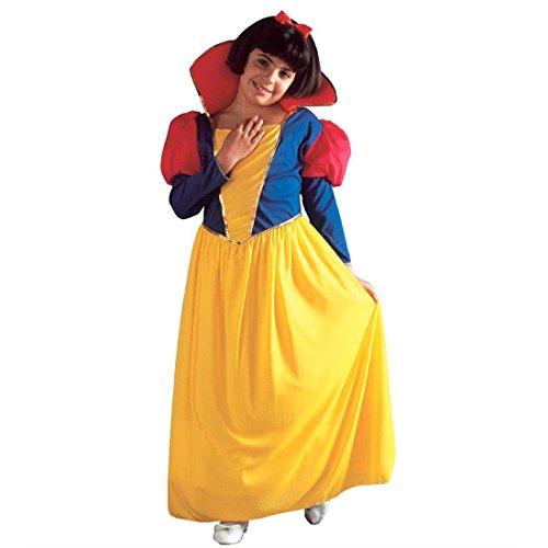 NET TOYS Enfants Blanche-Neige Costume déguisement pour Enfant Contes de fées Princesse Carnaval S 128 cm 5-7 Ans