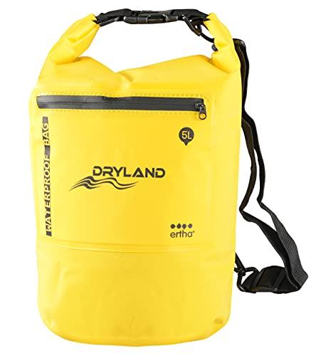 ERTHA – DRYLAND Bag – Bolsa de Cintura, Bolsa Seca para Playa y Deportes, Mochila Impermeable 5L, Bolsas Estancas, Bolsa Impermeable, Bolsa Seca.