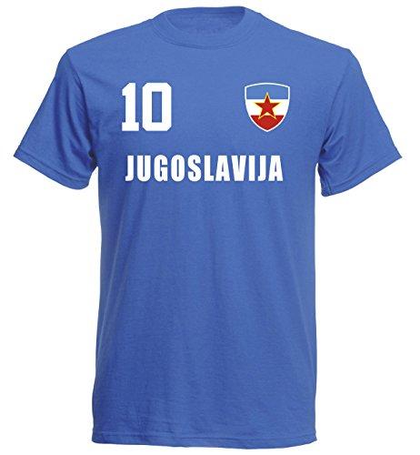 aprom Jugoslawien T-Shirt Trikot Royal ALL-10 (L)
