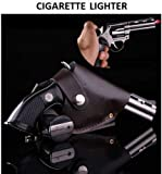 STYLATHON Gun Shaped Car Cigaratte Lighter with Windproof Jet Flame - Metal Body