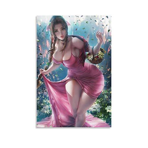 chengyin Impression sur toile Aerith Remake Final Fantasy - Décoration murale - 30 x 20 cm