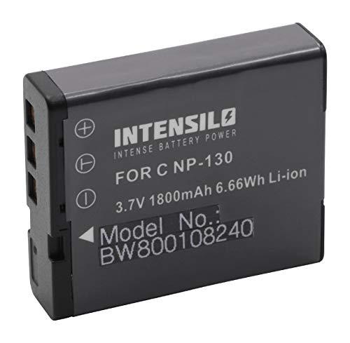INTENSILO batteria compatibile con Casio Exilim EX-ZR300, EX-ZR400, EX-ZR410, EX-ZR700, EX-ZR710 fotocamera digitale DSLR (1800mAh, 3,7V, Li-Ion)