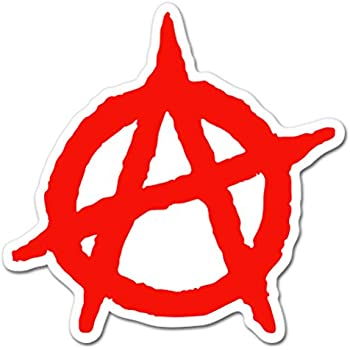 "Anarchy Symbol Vinyl Decals Gun Case Phone Helmet Bike 1.5/"" Stickers Set of 9"