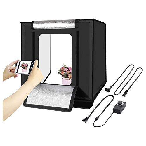 Portable Photo Light Box, 16'' & 24'' Photography Light Tent, Professional Foldable Shooting Lighting Softbox for Product Advertising Like Jewellery, Bags, Shoes,16 inches