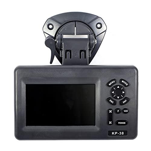 Chartplotter GPS da 5 Pollici,Display LCD a Colori Impermeabile Facile da Usare,Localizzatore di Navigazione GPS, 6000 Waypoint,Annunci Vocali,Forniture di Navigazione con Plotter Cartografico