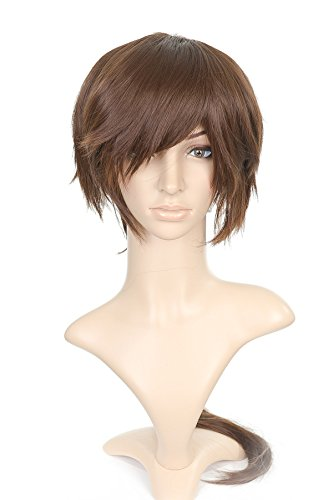 Brun Pony Tail longue Length Anime Cosplay Costume perruque