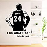 Adesivi murali basket Kobe Bryant Decorazioni camera da letto per bambini Decorazioni per la casa Decalcomanie da muro, 43cm x 59cm