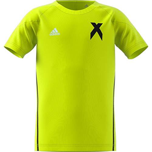 adidas Jungen X Kurzarm Trikot, Solar Yellow/Black, 116