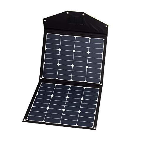 WATTSTUNDE Sunfolder Solartasche - Mobiles 12V Outdoor Solarpanel - faltbares Solarmodul ohne Laderegler (80W)