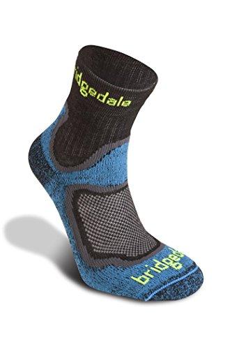 Bridgedale Trail Sport Chaussettes 3/4 légères en laine mérinos pour homme XL bleu