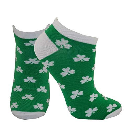 Carrolls Irish Gifts Damen T9297 Traditionelle Socken, Kleeblatt-Design, Grün/Weiß, One Size