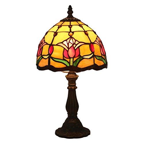 FABAKIRA 8 Pouce Baroque Européenne Tiffany Lampe de Table Chambre Lampe de Chevet